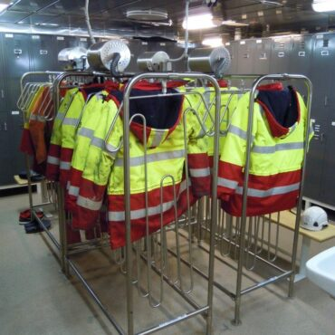 Sistemas de secado trajes de protección